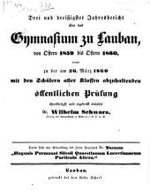 Quaestionum Lucretianarum: Particula altera. (p. 1 - 19 u. Schulnachrichten)