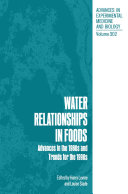 Water Relationships in Foods