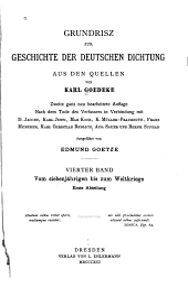 Grundrisz zur Geschichte der deutschen Dichtung aus den Quellen: Bd. Vom siebenjährigen bis zum Weltkriege