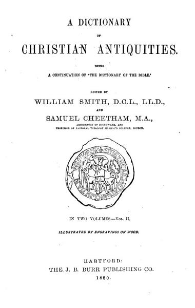 Download A Dictionary of Christian Antiquities Book
