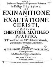 Diss. exeg.-dogm.-polem. in Philipp. II. 6 - 11, de exinanitione et exaltatione Christi