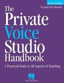 The Private Voice Studio Handbook