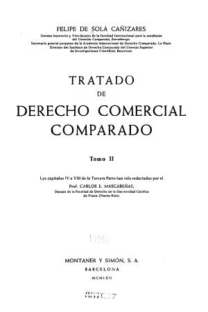 Tratado De Derecho Comercial