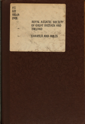 Charter and Rules: Rules as Revised on May 26, 1908