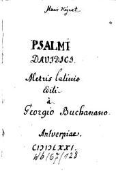 Paraphrasis psalmorum Davidis poetica