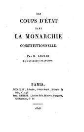 Des coups d'état dans la monarchie constitutionelle