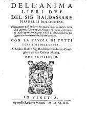 Dell'anima libri II (etc.); nuovamente posti in luce (etc.)