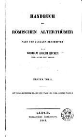 Handbuch der römischen Alterthümer: Band 1