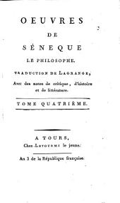 Oeuvres de Séneque le philosophe: Volume4