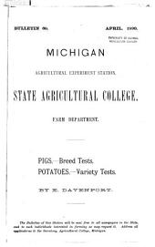 Pigs: Breed Tests ; Potatoes : Variety Tests