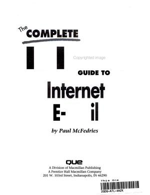 The Complete Idiot s Guide to Internet E mail PDF
