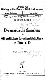 Archiv für Bibliographie, Buch- und Bibliothekswesen