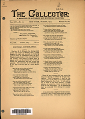 The Collector: A Monthly Magazine for Autograph and Historical Collectors, Volume 16, Issue 10