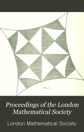 Proceedings of the London Mathematical Society: Volume 29, Part 2