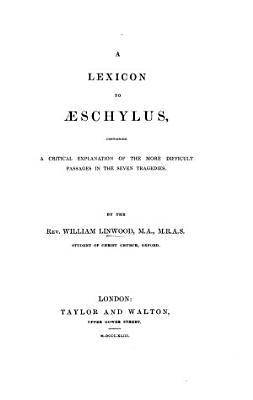 A lexicon to   schylus