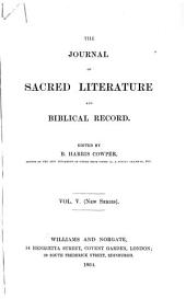 The Journal of Sacred Literature and Biblical Record: Volume 5
