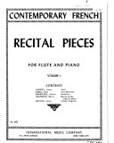 Contemporary French recital pieces for flute and piano  Lied PDF