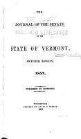 Journal of the Senate of the State of Vermont PDF