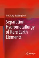 Separation Hydrometallurgy of Rare Earth Elements PDF