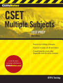 Cliffsnotes Cset Multiple Subjects 4th Edition Book