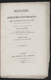 Histoire des Sciences naturelles: depuis leur origine jusqu'à nos jours, chez tous les peuples connus, professée au Collège de France