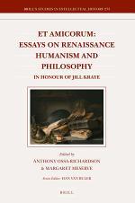 Et Amicorum: Essays on Renaissance Humanism and Philosophy