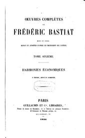 Oeuvres complètes de Frédéric Bastiat: Volume6