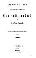 Jos  Alois Ditscheiner s grammatisch orthographisch stilistisches Handw  rterbuch der deutschen Sprache PDF