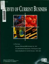 Survey of Current Business: Volume 83, Issue 1