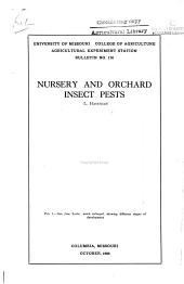 Nursery and Orchard Insect Pests: Volumes 170-187