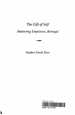 The Gift of Self PDF