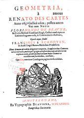 Geometria a Renato Descartes anno 1637 gallice edita...