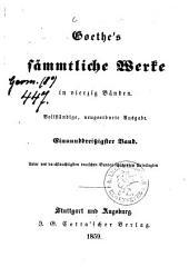 Sämmtliche Werke: in vierzig Bänden, Band 31