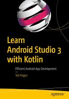 Learn Android Studio 3 with Kotlin PDF