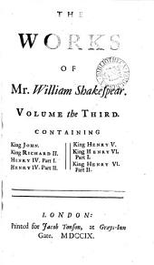 The Works of Mr. William Shakespear;: In Six Volumes. Adorn'd with Cuts, Volume 3
