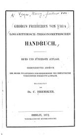 Logarithmisch-trigonometrisches Handbuch