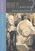 What is Ancient Philosophy  PDF