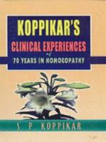 Clinical Experiences of 70 Years in Homoeopathy PDF