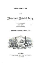 Proceedings of the Massachusetts Historical Society PDF