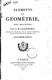 Éléments de géométrie avec de notes par A.M. Legendre