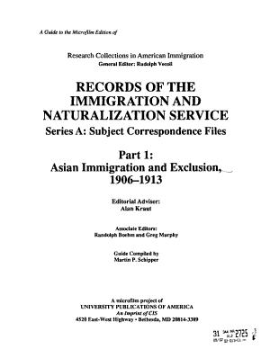 Records of the Immigration and Naturalization Service PDF