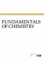 Fundamentals of Chemistry PDF