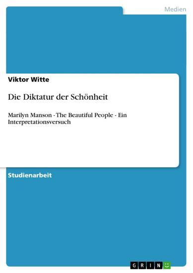 Die Diktatur der Sch  nheit PDF