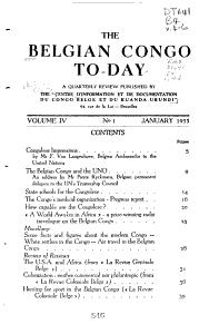 The Belgian Congo Today PDF