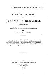 Les oeuvres libertines de Cyrano de Bergerac