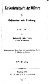 Landwirtschaftliche Blätter für Schwaben und Neuburg: Band 14
