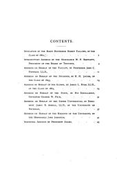 The Addresses at the Inauguration of Charles Kendall Adams, LL. D. to the Presidency of the University of Wisconsin January, 17, 1893
