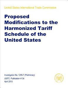 Proposed Modifications to the Harmonized Tariff Schedule of the United States  Inv  1205 7 PDF