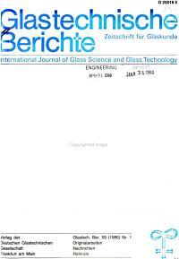 Glastechnische Berichte PDF