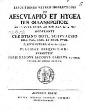 De Aesculapio et Hygea diis philanthropois defend. Ferdinando Jacobo Baiero